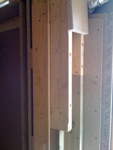 Door frame air duct - under construction
