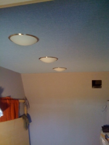 Live room light fittings. UFOs overhead.