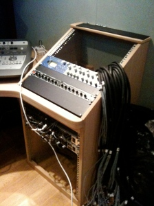 Top rack in progress – DBX compressor and ISA220.
