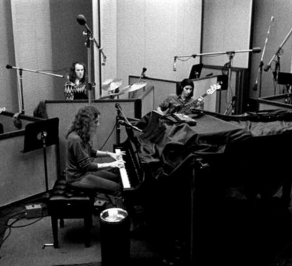 Carole King in the studio