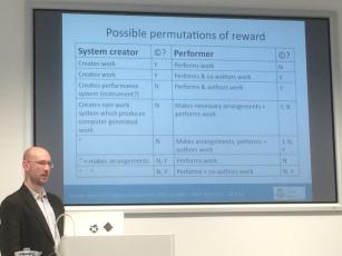 Possible permutations of creator reward for IDMS music.