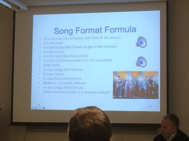 Phil's 'pop song formula' is provided with bar counts and audio examples