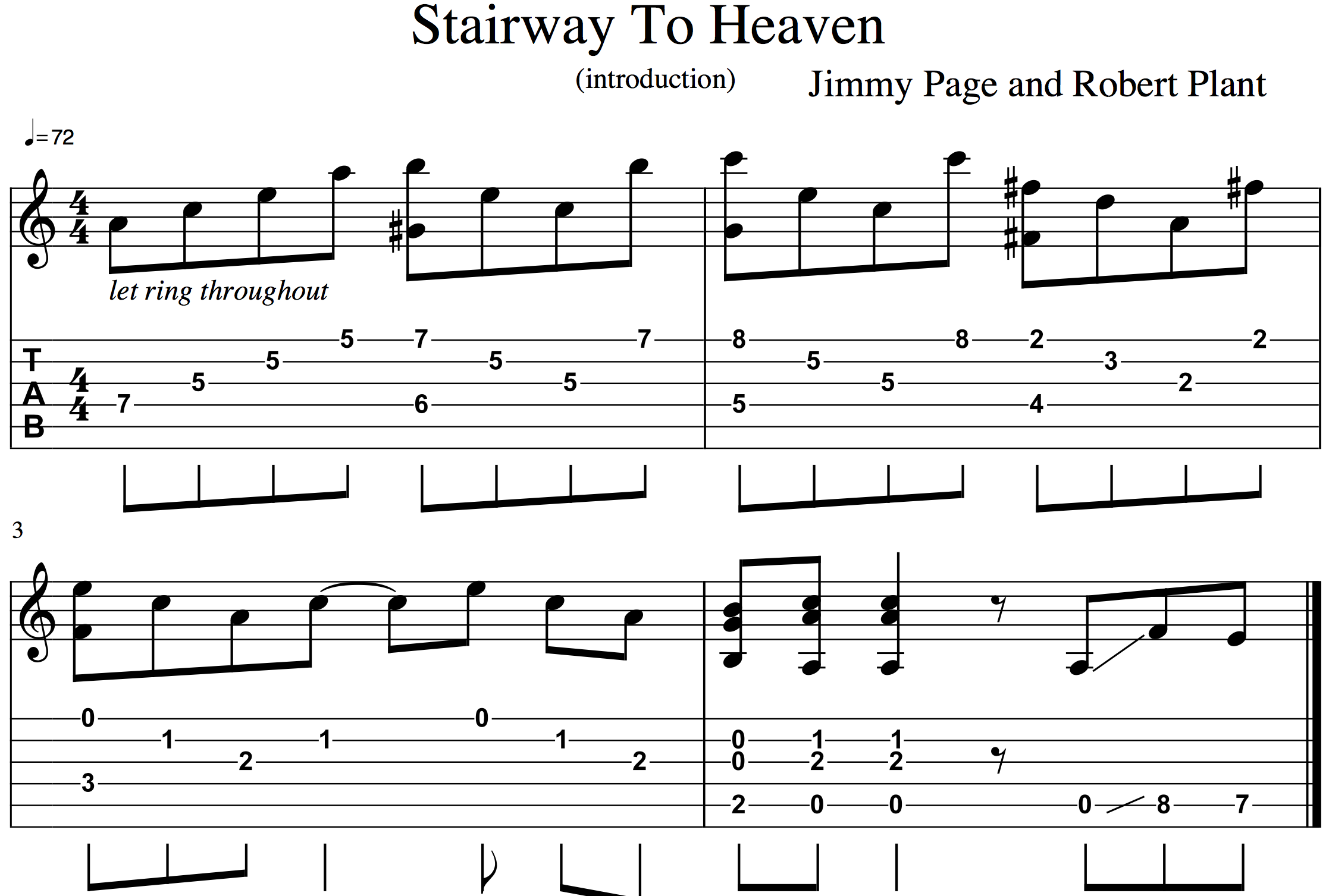 how to play stairway to heaven easy guitar