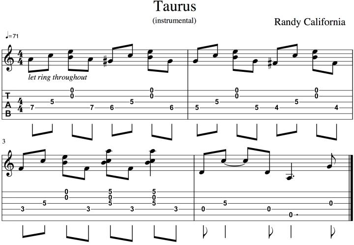 Taurus excerpt